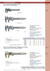 Messwerkzeuge Katalog  Measuring Tools Catalogue 2014/2015  Group 1.15
