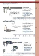 Messwerkzeuge Katalog  Measuring Tools Catalogue 2014/2015  Group 1.23