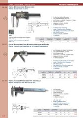 Messwerkzeuge Katalog  Measuring Tools Catalogue 2014/2015  Group 1.24