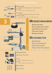 Messwerkzeuge Katalog  Measuring Tools Catalogue 2014/2015  Group 3