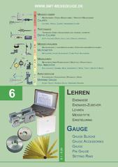 Messwerkzeuge Katalog  Measuring Tools Catalogue 2014/2015  Group 6
