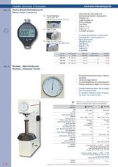 Messwerkzeuge Katalog  Measuring Tools Catalogue 2014/2015  Group 9.16