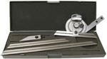 Universal-Winkelmesser-Satz mit 3 Schienen 150 + 200 + 300 mm Best-Nr. 208.000