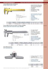 Messwerkzeuge Katalog  Measuring Tools Catalogue 2014/2015  Group 1.7