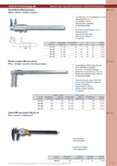 Messwerkzeuge Katalog  Measuring Tools Catalogue 2014/2015  Group 1.9
