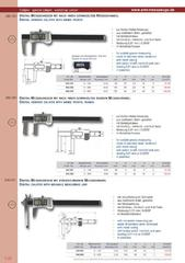 Messwerkzeuge Katalog  Measuring Tools Catalogue 2014/2015  Group 1.22