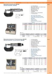 Messwerkzeuge Katalog  Measuring Tools Catalogue 2014/2015  Group 3.3