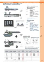 Messwerkzeuge Katalog  Measuring Tools Catalogue 2014/2015  Group 3.29